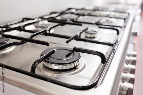 Close up image of the gas stove Fototapeta