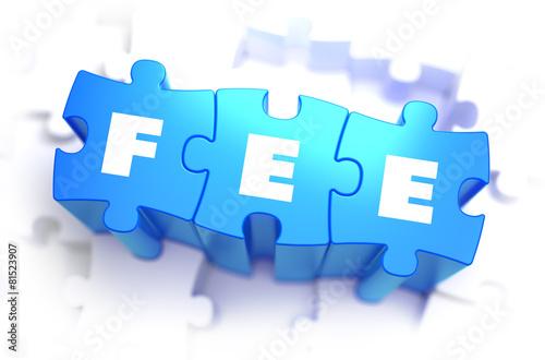 Fotografía  Fee - White Word on Blue Puzzles.
