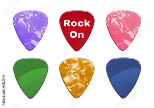Spoed Foto op Canvas Muziekwinkel Guitar Picks