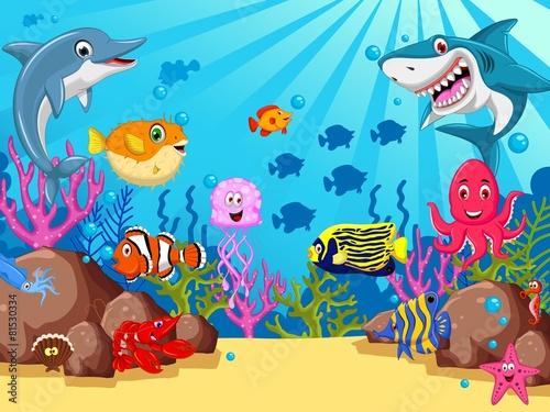 smieszne-kreskowki-zycie-morskie-dla-swojego-projektu