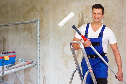 Fotografía  malerarbeiten in der wohnung