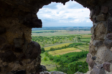Plakat View from 13th century Boldogko castle in hungary