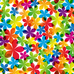 FototapetaSeamless pattern with bright flowers