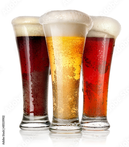 Foto op Canvas Alcohol Tall glasses of beer