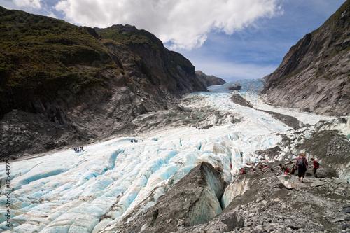 Poster Oceanië Scenic landscape at Franz Josef Glacier, New Zealand