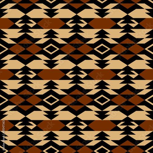Carta da parati Navajo aztec textile inspiration pattern. Native american indian