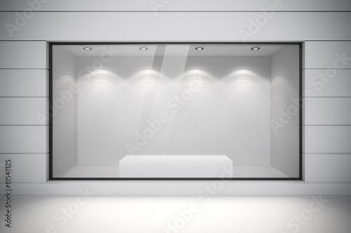 Fotografia 3d store front with big windows