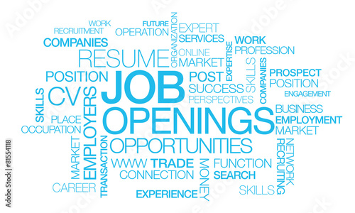 Job openings recruitment positions tag cloud career #81554118