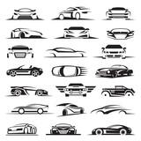 set of twenty-one car icons