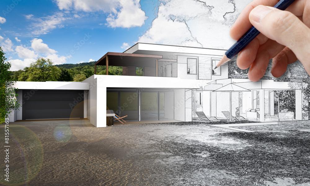 Fototapeta Projet immobilier