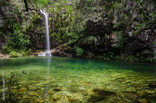 Loquinhas waterfall in Chapada dos Vendeiros, Brazil