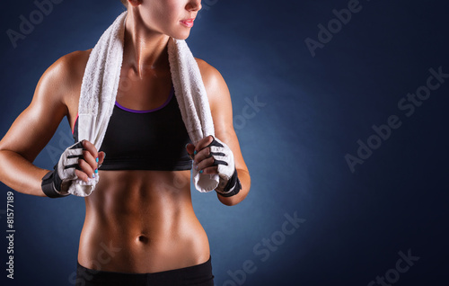 Photo  Fitness woman