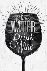 Plakat Poster vintage wine