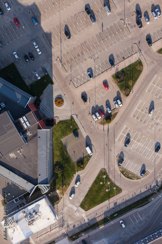Foto op Plexiglas Milkshake aerial view over parking lot
