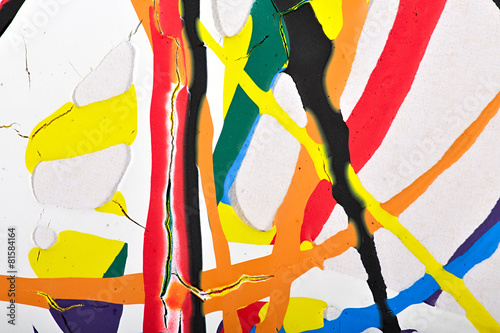 Fotografie, Obraz  Abstraktní akryl moderní malby fragment