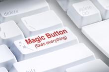 Magic Button On Computer Keybo...