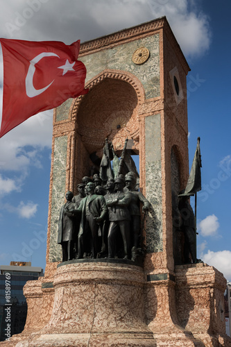 Fotografie, Obraz  Taksim-Platz Taksim Meydanı Denkmal der Republik