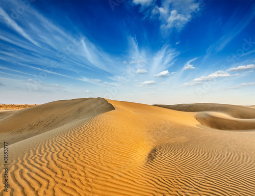 Foto op Canvas Zandwoestijn Dunes of Thar Desert, Rajasthan, India