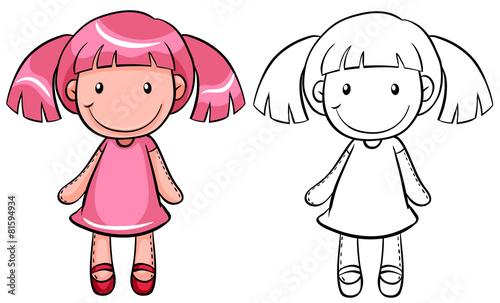Obraz na płótnie Girl doll