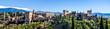 canvas print picture - Panorama Alhambra in Granada vor schneebedeckter Sierra Nevada