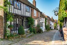 Tudor Houses On A Cobbled Street