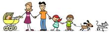 Kinder Mit Familie Und Baby Un...