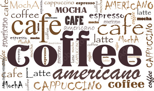 Coffee background Wallpaper Mural