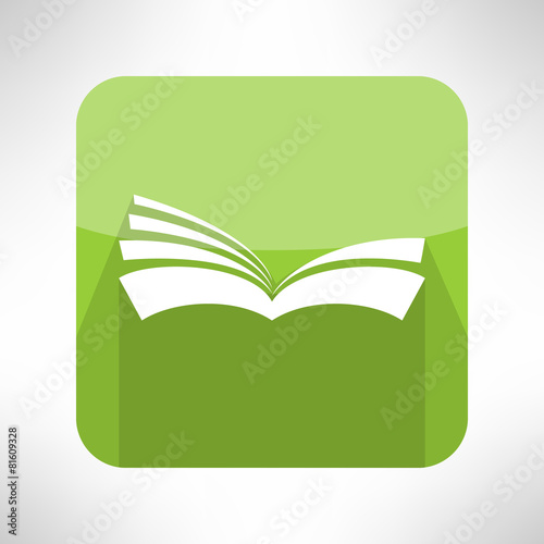 Green Book Icon Notebook Sign Learning And Ebook Reader