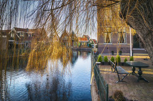 Photo  old typical dutch village
