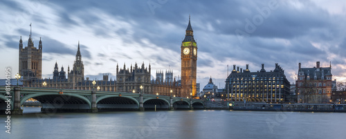 Foto op Canvas Londen Panoramic view of Big Ben
