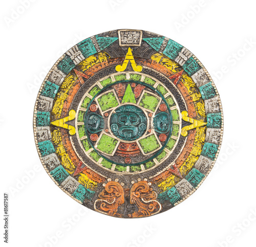 Mayan Calendar Ancient Religious Symbol In Mexico Buy This Stock