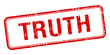 truth red square grungy vintage isolated stamp