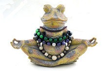 Stone Frog Meditates On A Whit...
