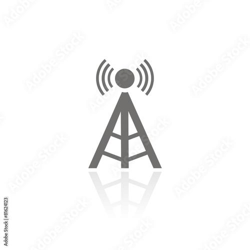 Icono antena torre FB reflejo Fotobehang