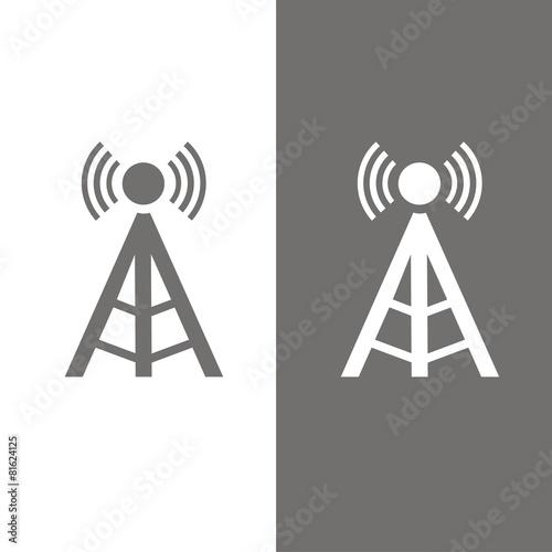 Icono antena torre BN Canvas