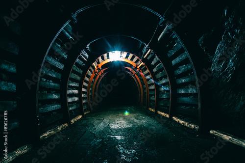 Poster Tunnel Underground Tunnel in the Mine