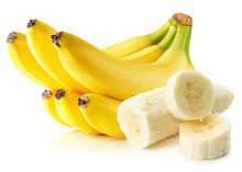 Bananas Isolated On The White ...