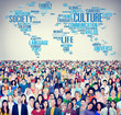 Leinwanddruck Bild - Culture Community Ideology Society Principle Concept