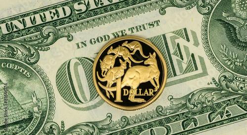 Australian And American Dollar