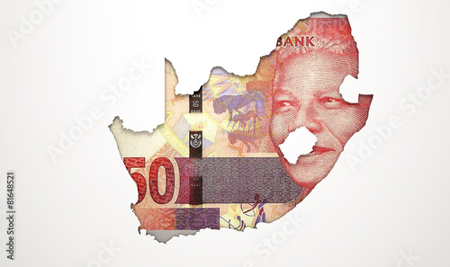 Staande foto Afrika Recessed Country Map South Africa