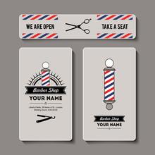 Hair Salon Barber Shop Business Card Template Set