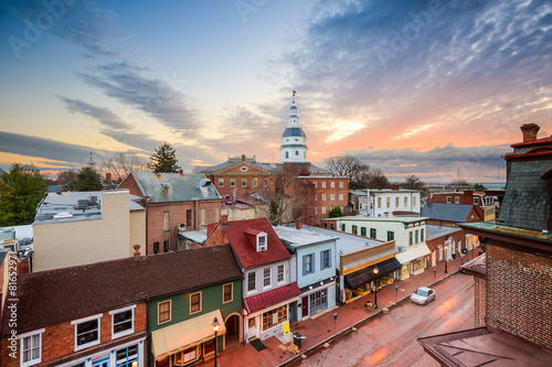 Photo Stands United States Annapolis, Maryland, USA Town Skyline