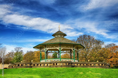 Bandstand in Greenhead park, Huddersfield, Yorkshire, England Canvas Print
