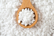 Pearl Sugar On Wooden Table