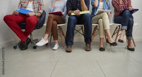 Fotografia  Waiting in the queue for job interview