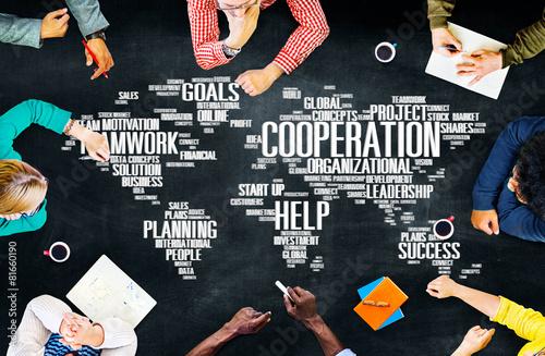 Fotografía  Cooperation Teamwork Assistance Help Support Concept