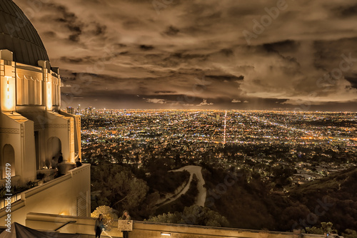 Photo sur Aluminium Los Angeles Los Angeles cityscape