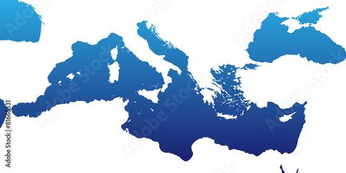 Mittelmeer in Blau Fototapete