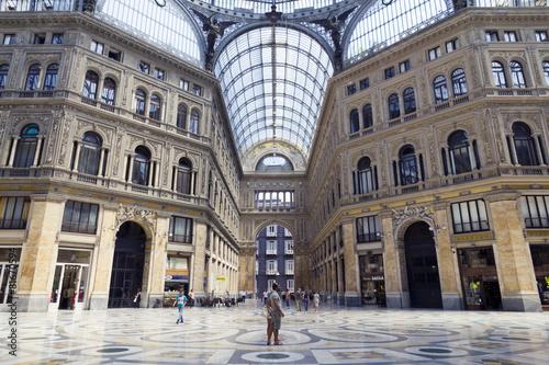 Garden Poster Napels Umberto I gallery in the city of Naples