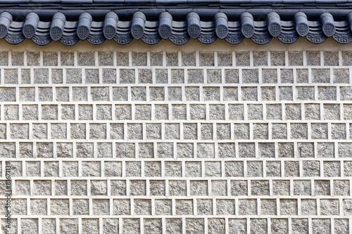 Fotografie, Obraz  Chinese-style brick wall